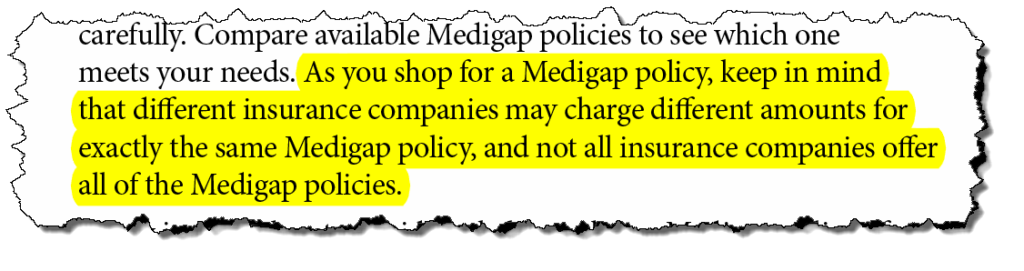 from Medicare's choosing a Medigap policy booklet